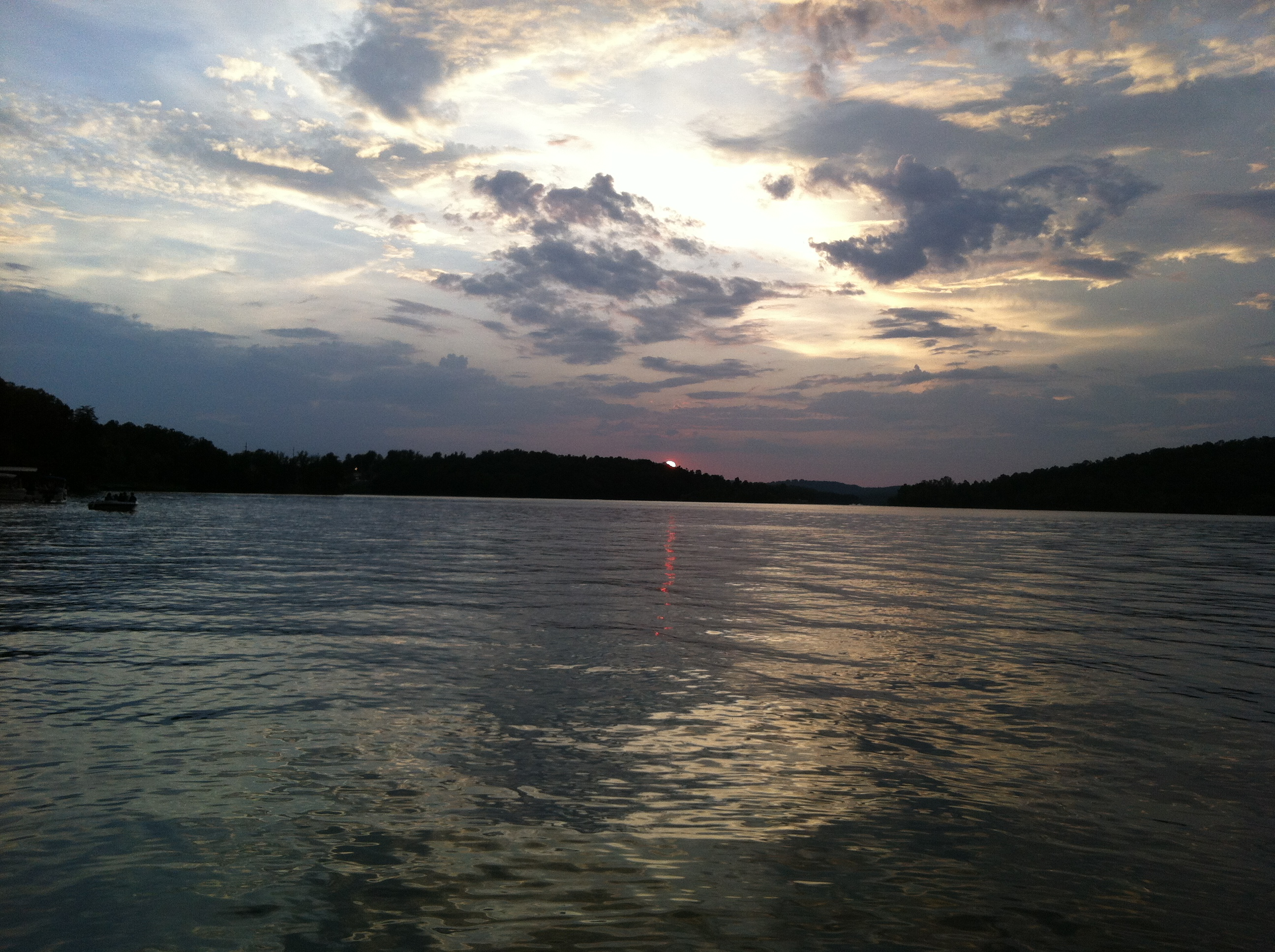 Sunset Over Lake In North Georgia