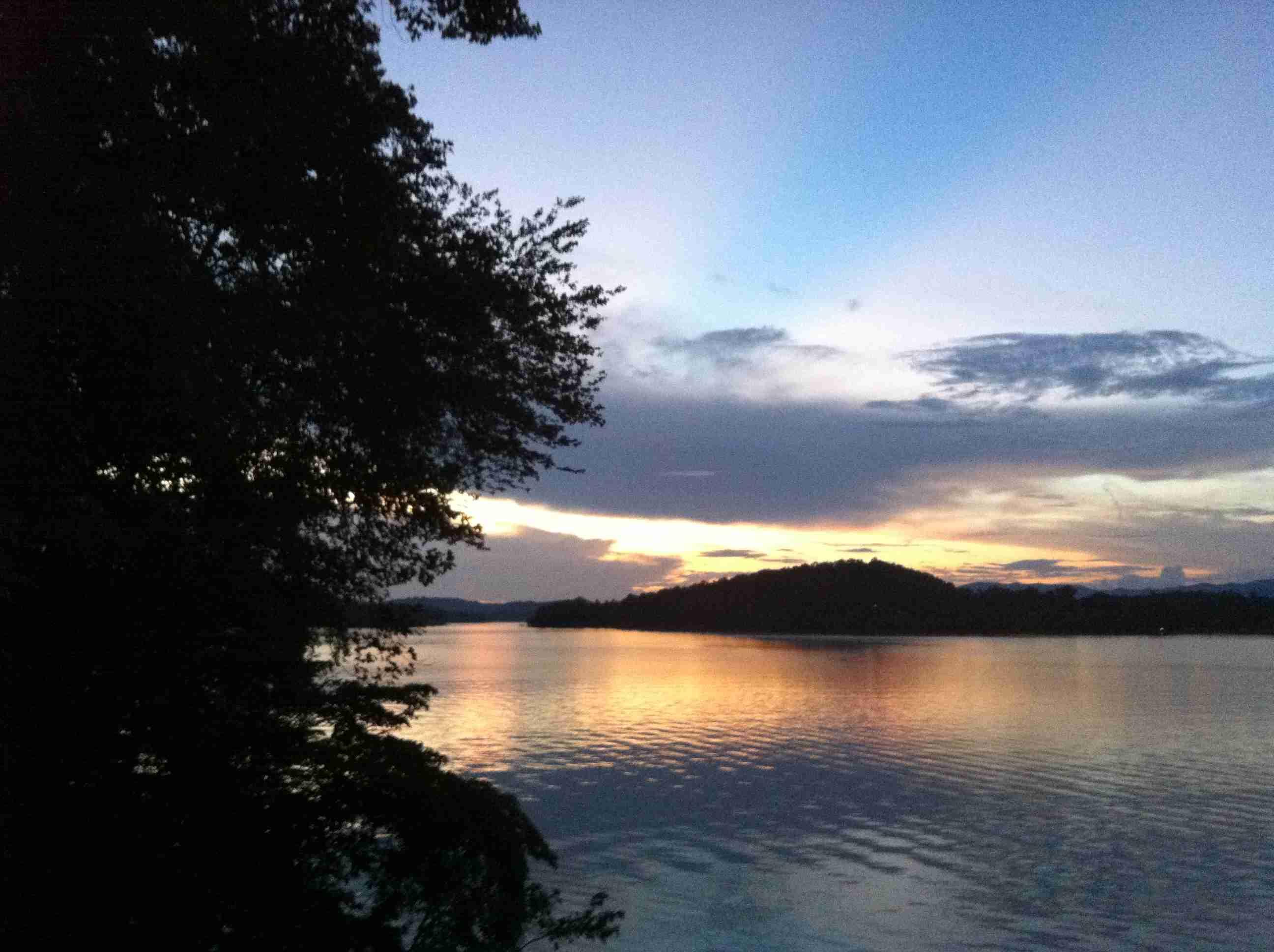 Sunset Over Lake In North Georgia