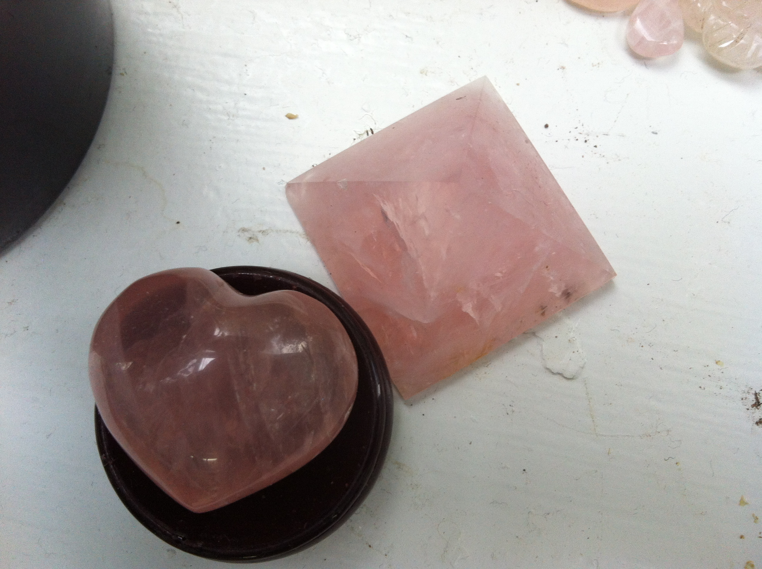 Rose Quartz In My Studio