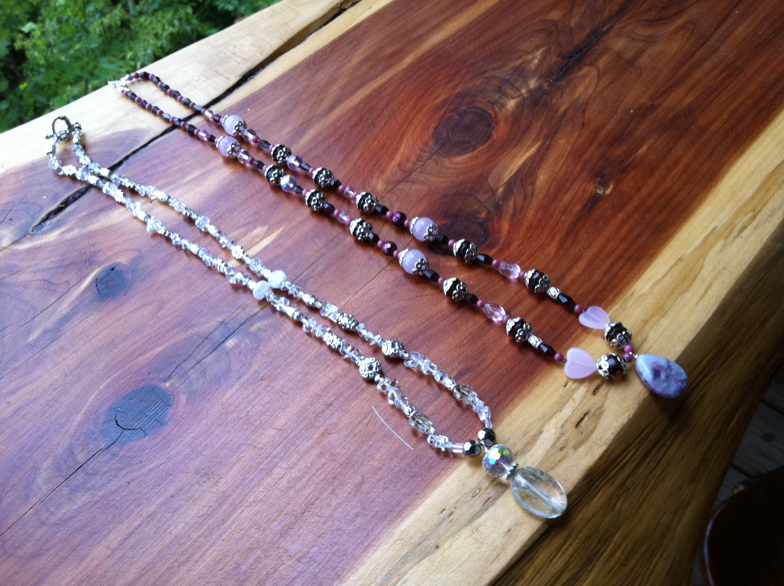 Gemstone Necklaces I Made For A Friend