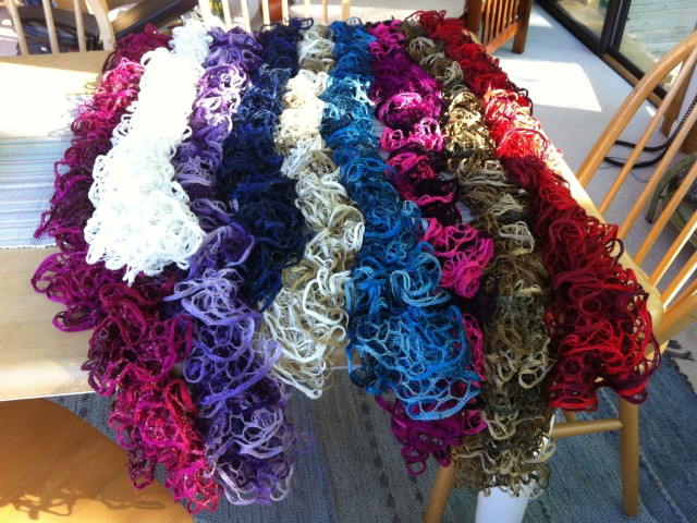 Ruffle Scarves For Sale