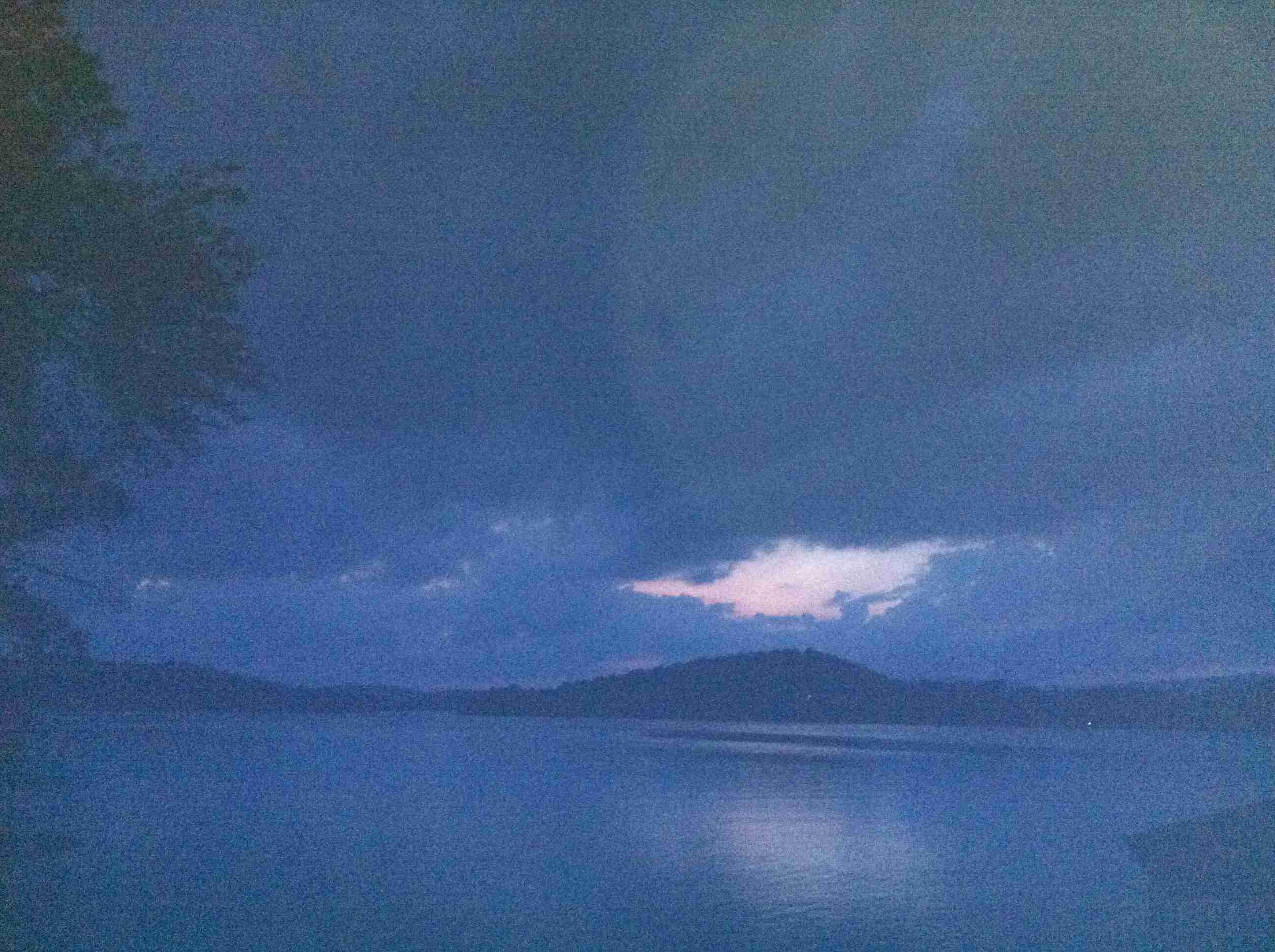 Night Sky Over Lake In North Georgia