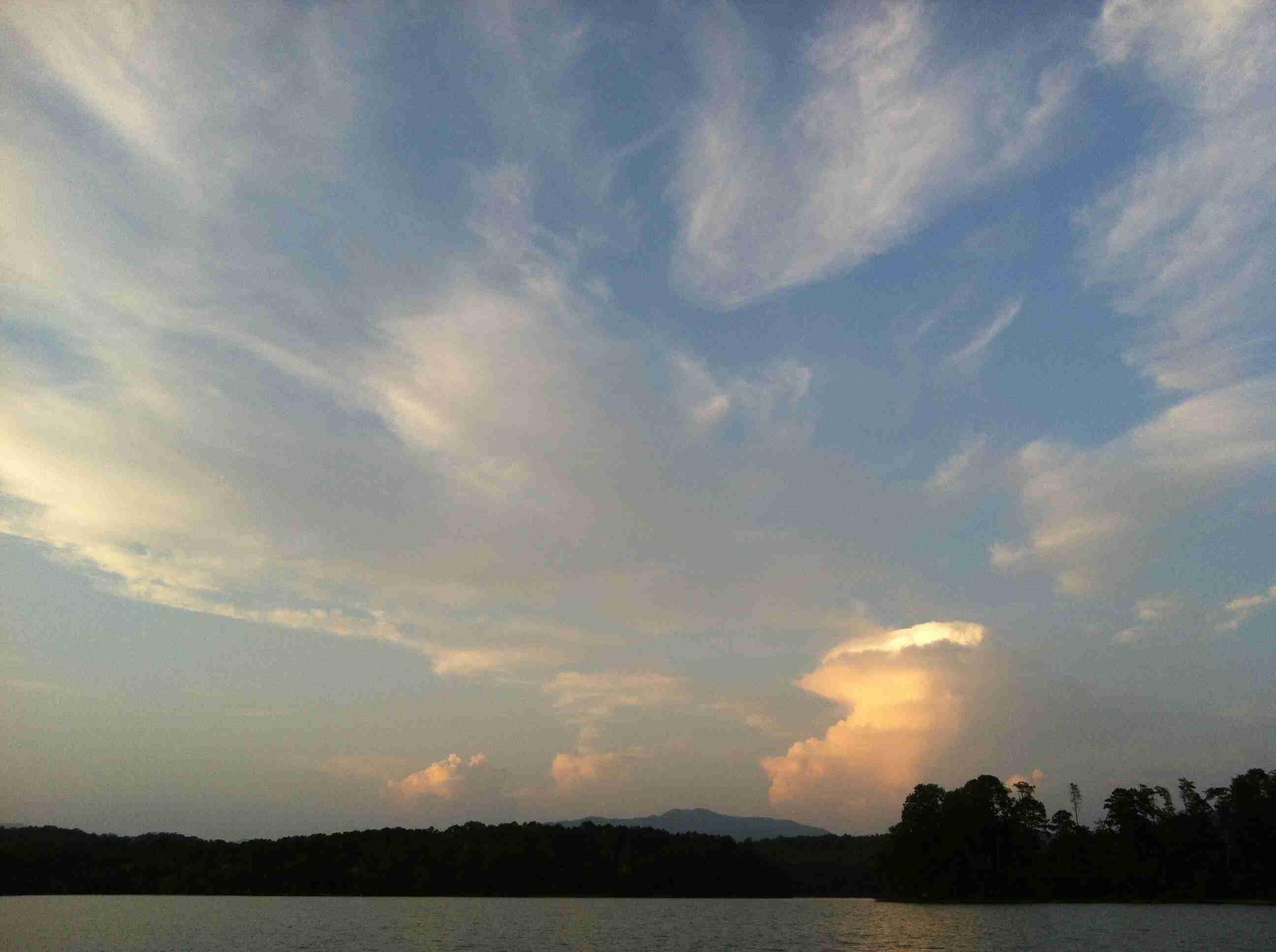 Sky Over Lake In North Georgia