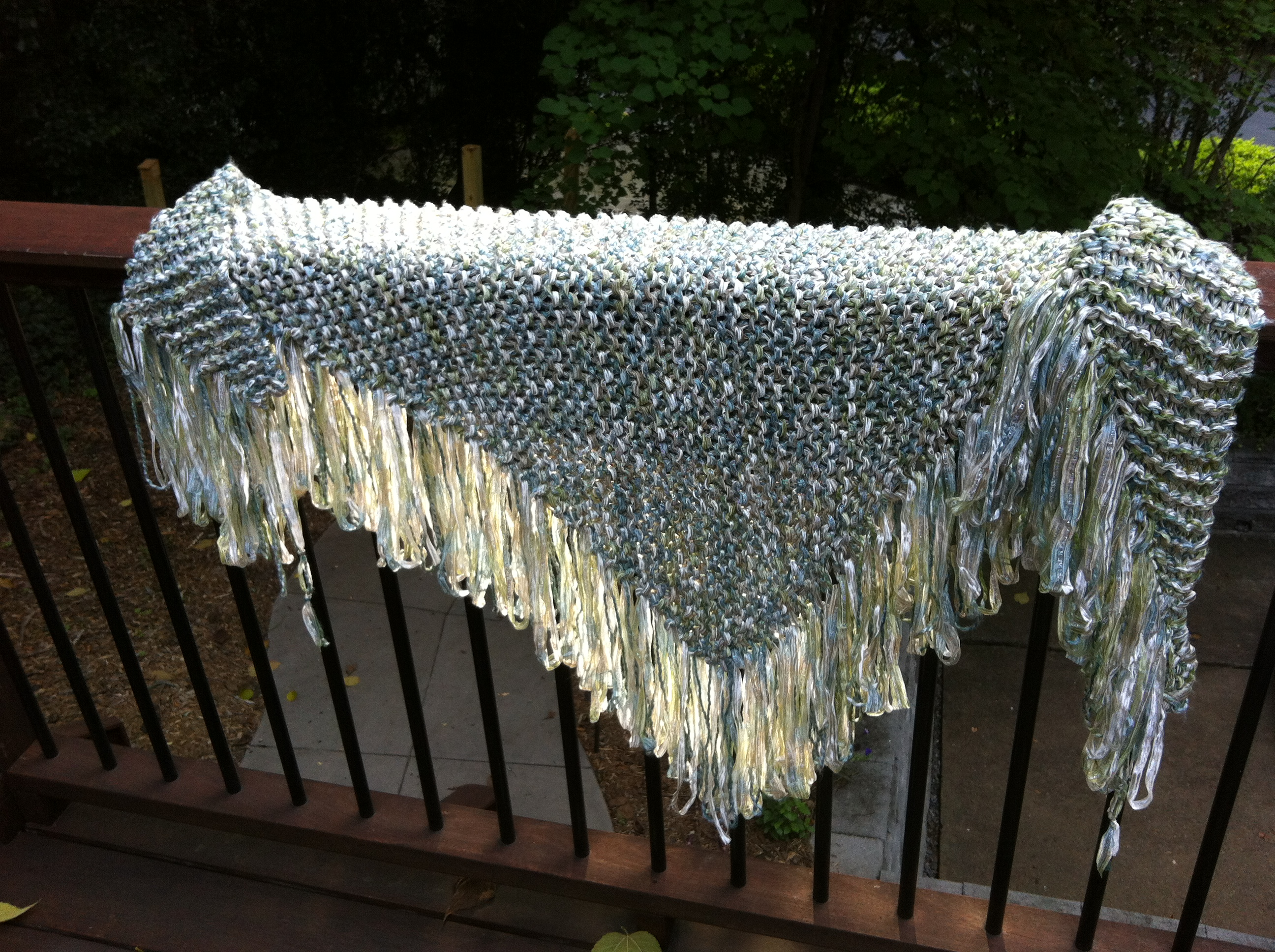 Ribbon Shawl I Completed After Meditating At The Zen Center