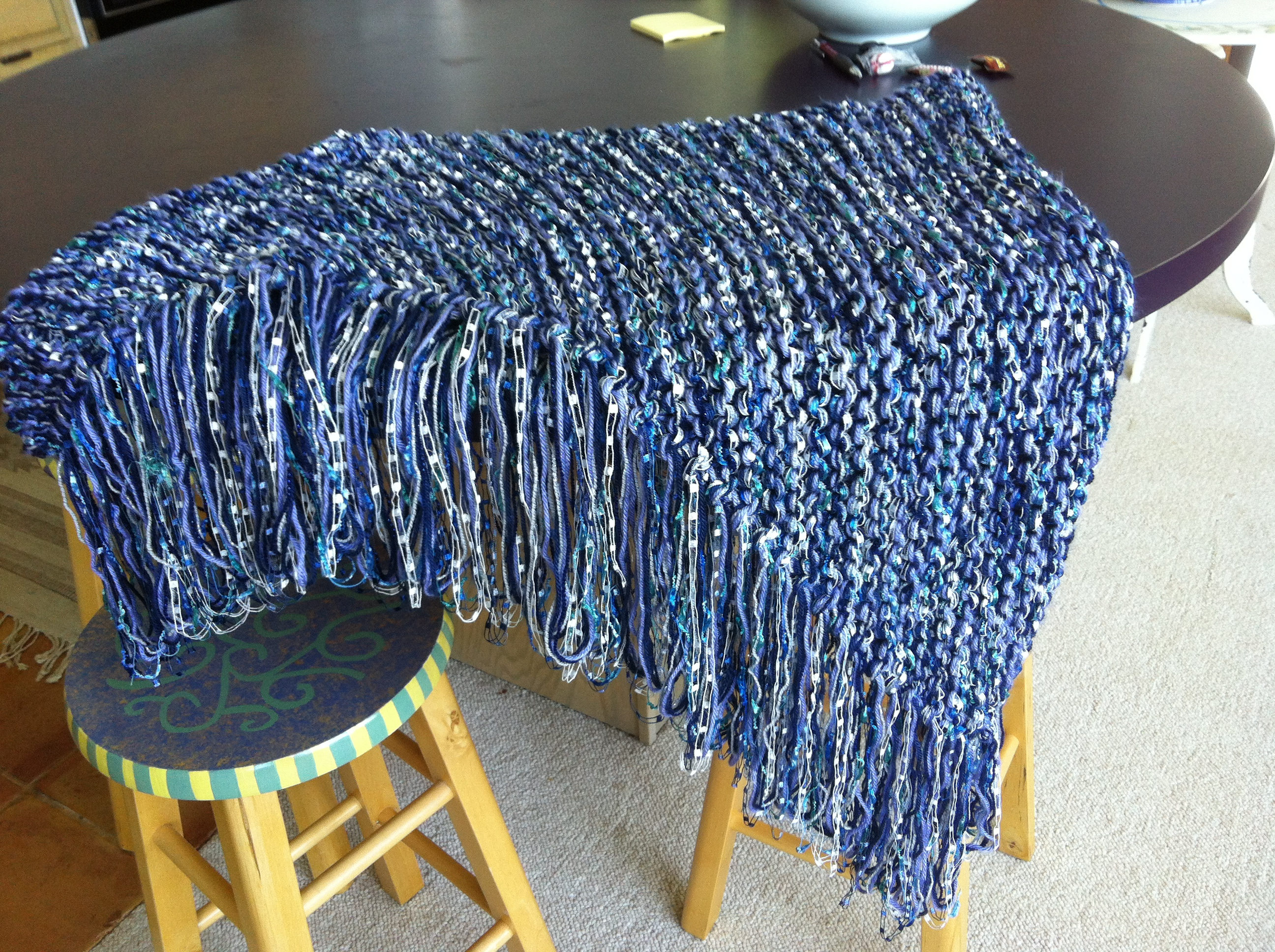 Seven Yarn Shawl I Knitted