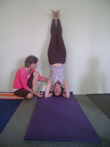 Catherine In Headstand, Instructed by Lillah Schwarz