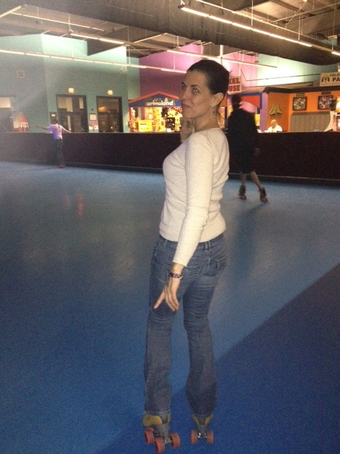 Catherine On Roller Skates