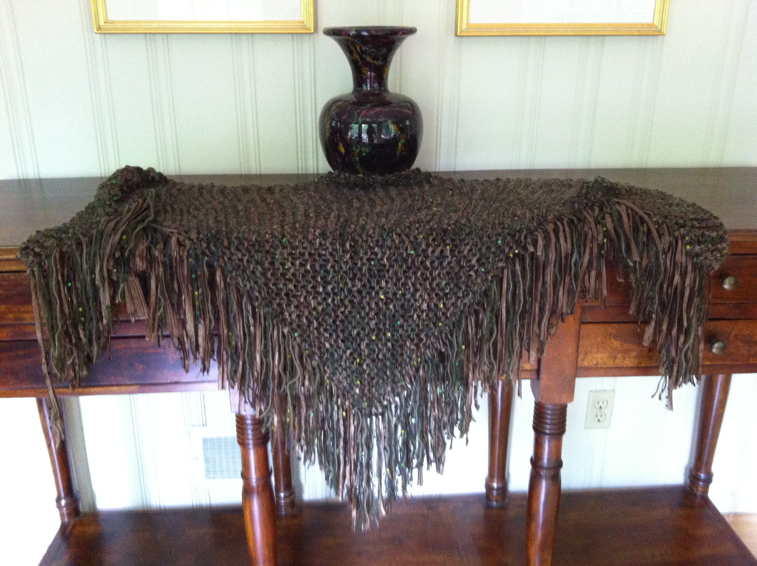 Shawl I Knitted With Seven Yarns