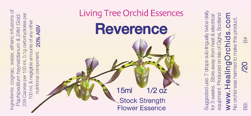 """Reverence Orchid Essence Label"""