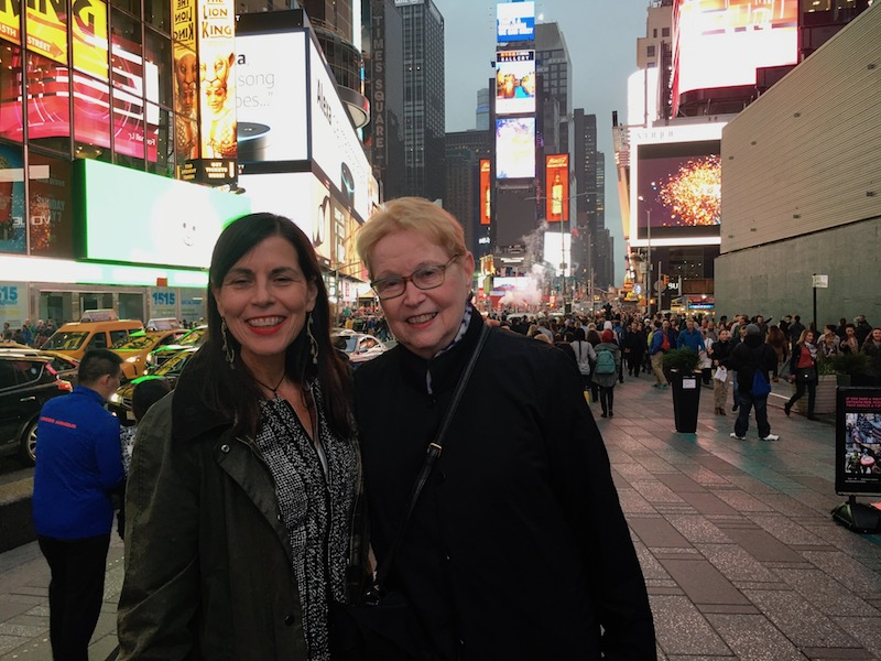 Catherine Carrigan and Jane Espy Times Square May 6, 2017