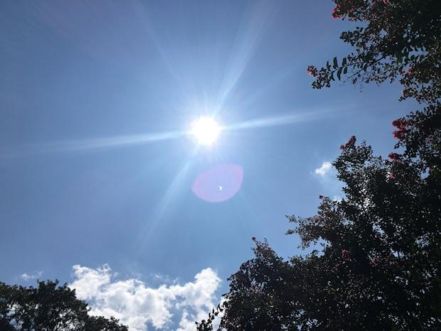 Pink Orb at the 2017 Solar Eclipse