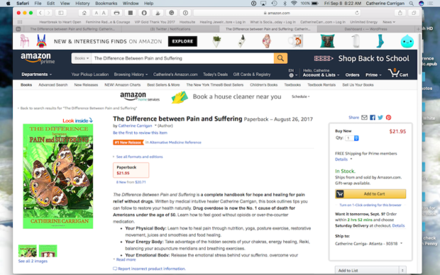 The Difference Between Pain and Suffering, No. 1 New Release in Alternative Medicine Reference on Amazon