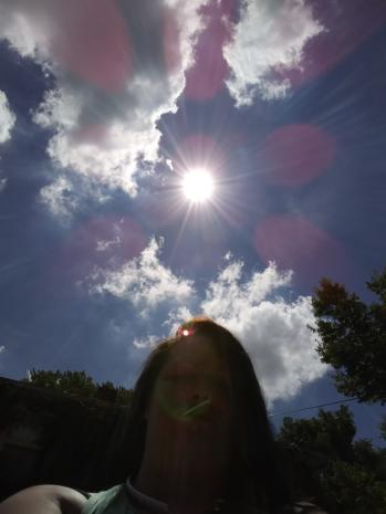 Halo of Pink Orbs Responding to Prayer Above Angela Depew in Rockford, Illinois on July 3, 2018