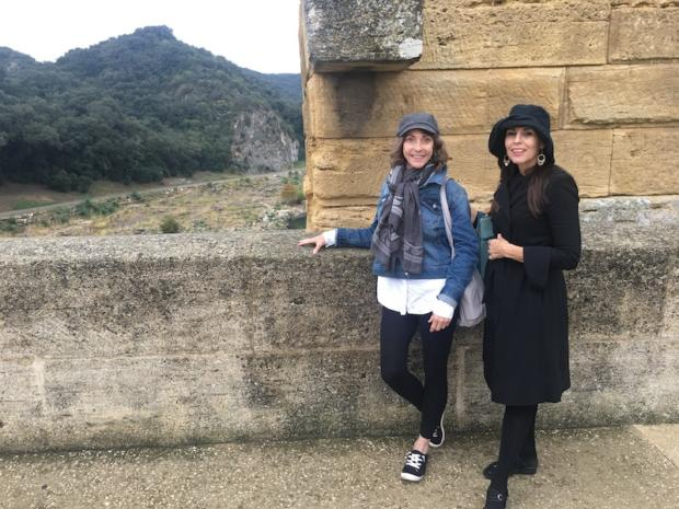 Nina Lynn and Catherine Carrigan at the Point du Guard in France October 2018