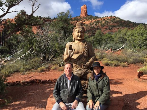 Ramajon Cogan and Catherine Carrigan in Sedona, Arizona, November 5, 2015