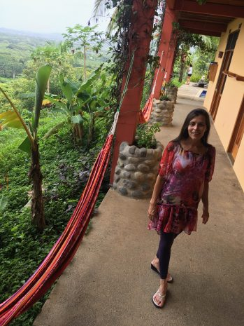 Author Catherine Carrigan at the Costa Rica Yoga Spa in Nosara, Costa Rica